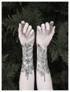 The Aviary — NATURE GIRL From the Forest - Fern & Crystals Temporary Tattoo Set