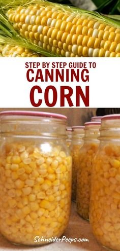While canning corn does take a little more time than canning other vegetables, it is worth it to have the fresh sweet corn flavor of summer all year long. Preserving corn by canning at home is completely safe if you follow a few simple steps. Learn how to can corn at home using the hot pack or raw pack method in this step by step guide. #Homesteading #SimpleLiving #PreservingFood #FromScratch