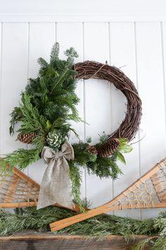 Natural Grapevine Winter Wreath | via Ashlea of This Mamas Dance