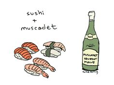 MLawrence Detroit is a #PerfectPairing sparkling wine with sushi. It's made with 30% Muscat & one of our sweetest sparklers. www.lmawby.com | Image & pairing via Wine Folly