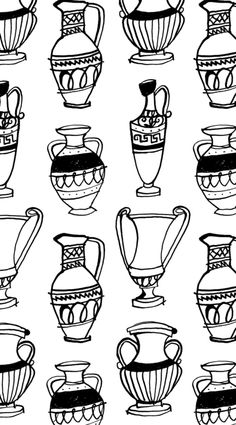 Greek vase pattern  copyright Alanna Cavanagh  would like to see as wallpaper  #pattern #surface design