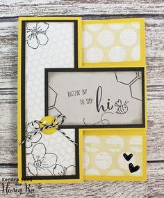 Luv 2 Scrap n' Make Cards, Handmade Card, Kendra Sand,  Honey Bee Stamps