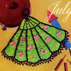 Fan Fair Potholder Pattern   Crochet Patterns...This is a vintage and free pattern!