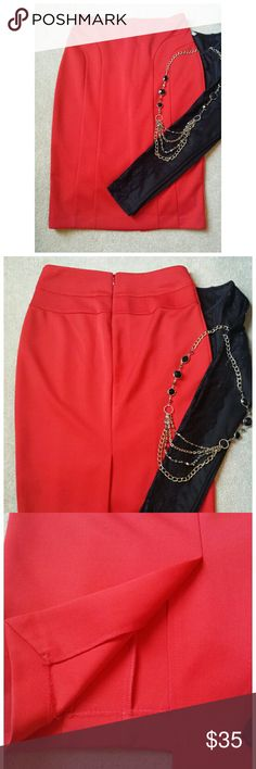 """*The Limited Pencil Skirt* *Great skirt for desk to dinner to special occasion!! Wore this skirt with the Charlotte Russe Peplum Lace top (see listing). Length: 25"""". Width: 14"""". 97% Polyester, 3% Spandex. Great condition. Ask any questions. Happy Poshing!!* The Limited Skirts Pencil"""