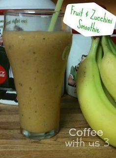 Fruit & Zucchini Smoothie by Coffee With Us 3 / Great way to get kids (or adults) to drink their veggies! #recipes #smoothie