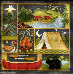 Mill Hill Buttons Beads Cross Stitch Kit 5 x 5 Camping Out Sale 14 8103 | eBay