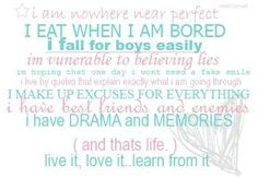 Quote: I am nowhere near perfect...and that's life. Live it. Love it..and learn from it.