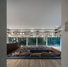 Architecture, Charming Modern Yucatan House In Sao Paolo Brazil By Isay Weinfeld Featuring Interior Design With Sunken Living Room And Cabinet As Bookcas: Fresh Tropical Home Garden from Brazil Surrounding a Modern Residence