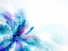 Blue Flower Drawing Abstract HD Desktop Wallpaper