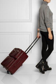Moncrief|Lizard-effect leather detachable-case travel trolley|NET-A-PORTER.COM