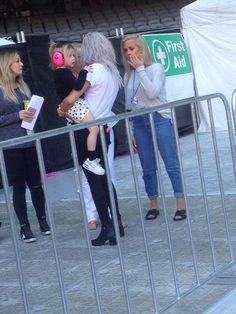 """""""Lou, lux and Lottie today at the stadium"""" Lottie Tomlinson, Baby Lux, First Aid, Wardrobe Rack, Daughter, Twitter, Instagram, Friends, Amigos"""