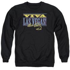 Elvis - Viva Las Vegas Adult Crewneck Sweatshirt