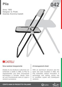 Plia by Giancarlo Piretti for Anonima Castelli (1969) #Italian #design #history #chair