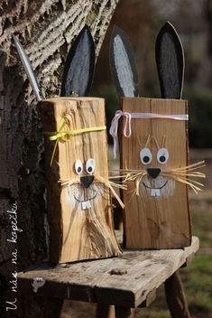 a v mém podání opět přírodně pojaté. Využila jsem obr květináč a. - New Ideas Bunny Crafts, Easter Crafts For Kids, Flower Crafts, Giant Flowers, Diy Flowers, Flower Pots, Easter Bunny, Easter Eggs, Wood Crafts