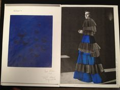 A vision in blue - Jaimee Mckenna things in colour and texture http://1granary.com/central-saint-martins-fashion/ma/louise-wilson/pretty-in-pleats-an-interview-with-ma-fashon-graduate-jaimee-mckenna/ #1Granary #CSM #indigo #blue #texture #colour #fabric #design #fashion #fashiondesign #sketch #sketchbook #portfolio