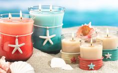 Candles on the beach.