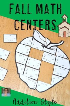 Are you looking for fall or autumn math centers to help your 1st, 2nd, or 3rd grade students master their addition math facts? These Math Addition Apple Puzzles are great for fall math centers, review, early and fast finishers, enrichment, GATE, & critical thinking skills. Students with special needs also do well with these once they understand the concept. Any student that needs a lesson in perseverance will benefit from these puzzles. {first, second, third grade} $