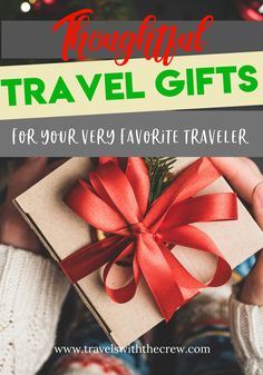 Gifts for travelers can be hard to find. But look beyond the basics of travel gear, suitcases, and travel bags. Here are some of our favorite travel gifts for kids, travel gifts for women, and travel gifts for men. Packing Tips For Travel, Travel Advice, Budget Travel, Travel Guides, Travel Bags, Travel Items, Packing Lists, Travel Necessities, Travel Essentials