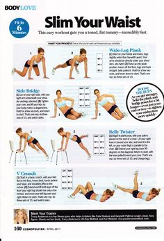 Slim Your Waist with these workouts! #fitness #exercise http://www.weightlossexperts.com