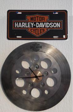 Horloge-disque de frein Harley Davidson Softail FXD WG Dyna : Décorations murales par mecanic-art62