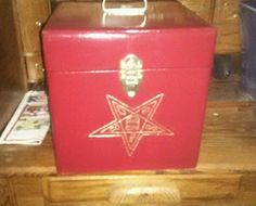 Eastern star hand made fez case chapter case