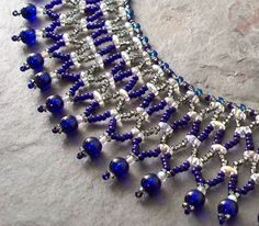 patterns with super duo and tila beads for necklace | Tutorial. Janet Super Duo Vertical Netting Necklace Bead Pattern