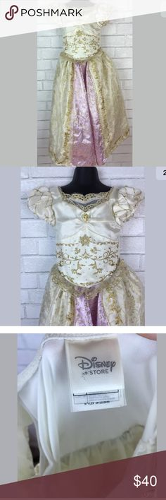 Disney store Rapunzel wedding dress costume Good pre owned condition will ship out ASAP! Size 5/6 disney store Costumes Halloween