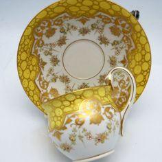 Beautiful Vintage Meissen Serpent Handle Tea Cup and Saucer