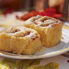 Pumpkin-Cinnamon Streusel Buns | MyRecipes.com