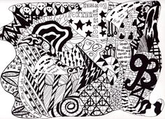 Harry Potter and doodles, letterings, and other magical drawings zentangles Doodle Art Letters, Doodle Art Journals, Doodle Lettering, Blog Harry Potter, Harry Potter Bricolage, Face Doodles, Monster Eyes, Good Day Song, Tangle Patterns