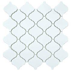 SomerTile 12.5x12.5-inch Morocco Matte White Porcelain Mosaic Tiles (Set of 10) | Overstock.com