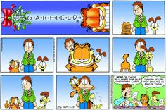 Read today's Garfield comic strip, or search for your favorite! Garfield Cartoon, Garfield And Odie, Garfield Comics, Cat Cartoons, Funny Horses, Funny Animals, Calvin And Hobbes Comics, Kittens Cutest, Funny Kitties