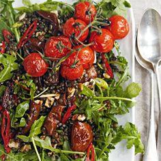 Rezept von Natasha Corrett & Vicki Edgson: Salat mit Linsen und karamellisierten Birnen