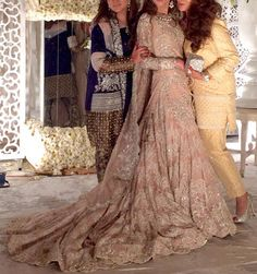 Numra is bridal perfection in an lace pink farshi lehnga at her wedding Pakistani Couture, Pakistani Wedding Dresses, Pakistani Outfits, Indian Dresses, Indian Outfits, Ethnic Outfits, Asian Bridal, Desi Clothes, Desi Wedding
