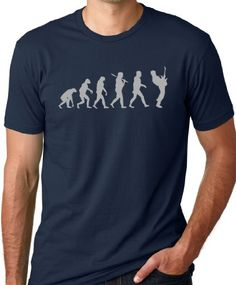 Guitar Player Evolution Funny T-Shirt Navy M