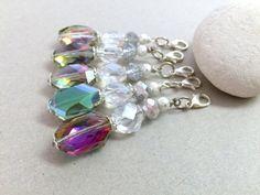 Crystal Keychain Small Keychain Crystal Wedding Favors by LucKeyMe