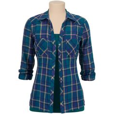 lightweight relaxed plaid button down shirt ($29) ❤ liked on Polyvore featuring tops, shirts, long sleeve shirts, blusas, blue top, long sleeve plaid shirts, blue long sleeve shirt, plaid button up shirts and plaid top