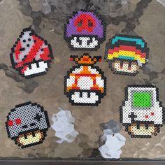 Mushrooms perler beads by Bead Bros inc.