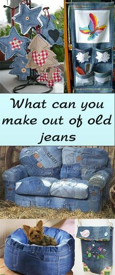 recycle old jeans , recycle old jeans diy , recycle old jeans madewell , recycle old jeans american eagle , recycle old jeans into skirt Jean Crafts, Denim Crafts, Fabric Crafts, Sewing Crafts, Sewing Projects, Denim Ideas, Recycled Denim, Denim Bag, Upcycle