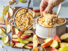 Caramel Apple Dip is a Skinny (believe it!) Caramel Sauce for Apples that will leave your sweet tooth satisfied and is so easy! This Cream Cheese Apple Dip Recipe is what every party needs! This Caramel Apple Dip is a lightened up version of our favorite sweet snack is gone in minutes every time.
