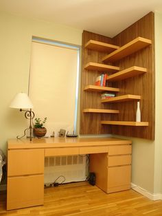 Modern Home Office CREATIVE Open Shelving Design