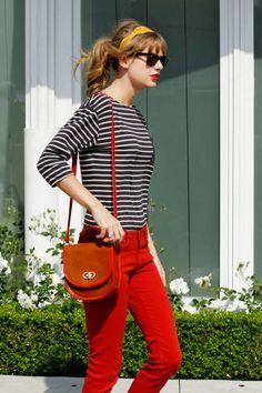 Taylor Swift showing her preppy side