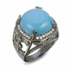 Turquoise Bold Cocktail Ring #unusualengagementrings