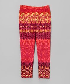 Look what I found on #zulily! Pink Aztec Leggings - Infant, Toddler & Girls by Unik #zulilyfinds