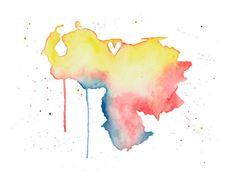 5x7 - Venezuela Love watercolor print