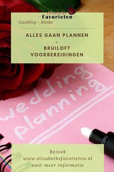 Minke verteld haar verhaal hoe ze de bruiloft, die in de planning staat, gaat plannen en hoe ze de planning aanpakt.
