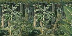 Paysages colorés - Bornéo couleur L450xH225cm - ultra mat - 5 lés de 90cm