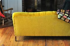 the yellow velvet couch | Flickr - Photo Sharing!