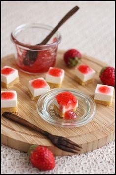 簡単5分!イチゴのレアチーズケーキと手土産風ラッピング レシピブログ