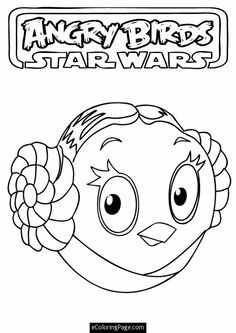 angry birds printable coloring pages | , angry birds star wars princess leia printable coloring page. angry ...